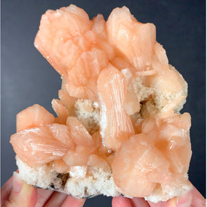 Large Peach / Orange Stilbite Crystals