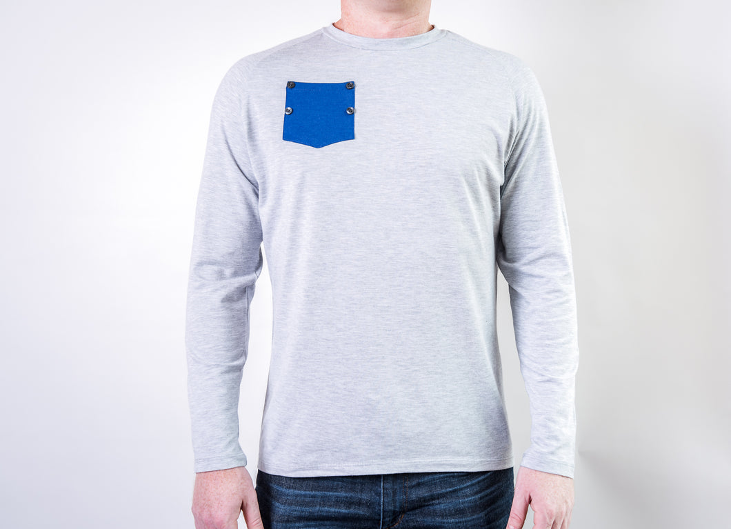 Long Sleeve Men's Support-T - 3 Colors (Pocket does not open)