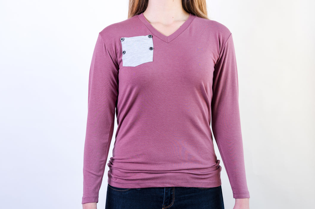 Long Sleeve Women's Support-T - 3 Colors (Pocket does not open)