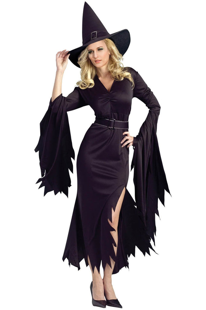 sc 1 st  Discount Halloween City & All Black Gothic Witch Halloween Costume - Discount Halloween City