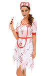 3pcs Horrible zombie Nurse Costume