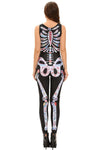 Sugar Skull Adult Womens Halloween Catsuit Costume