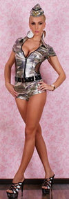 US Army Hot Pants Overall Costume