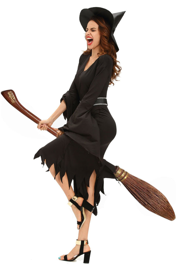 all black gothic witch halloween costume discount halloween city