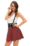 Teasing Schoolgirl 2pcs Suspending Skirt Dress