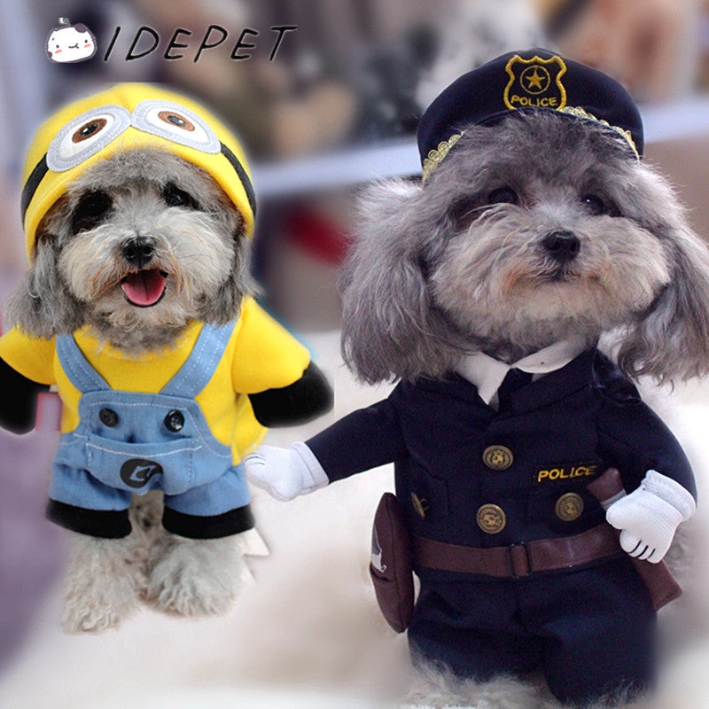 Funny Dog Clothes Pet Costume Suit Cool Dog Halloween Costume Puppy Clothes Outfit for Dog Clothing Nurse Policeman 20S2Q & Funny Dog Clothes Pet Costume Suit Cool Dog Halloween Costume Puppy ...