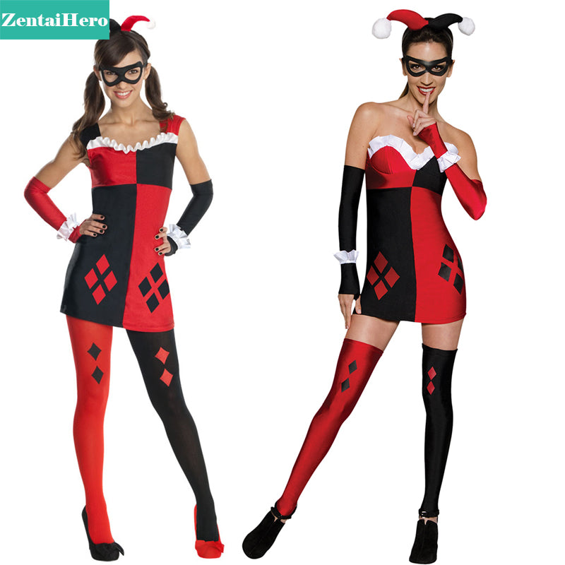 Free Shipping DHL Two Style Halloween Costumes For Tween Women Batman Harley Quinn Adult /Teen Womens Zentai Costume SHS801  sc 1 st  Discount Halloween City & Free Shipping DHL Two Style Halloween Costumes For Tween Women ...