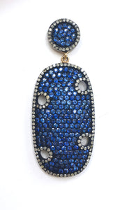 Gorgeous Blue Sapphire and Diamond Earrings!