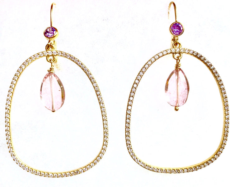 Summer in the City! Pretty Dangle Earring with Sparkle~