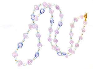 Summer Stunner! Blue, Lavender and Violet Gemstone Necklace