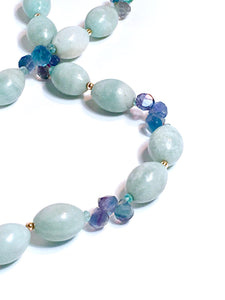 Elegant Apatite and Amazonite Necklace