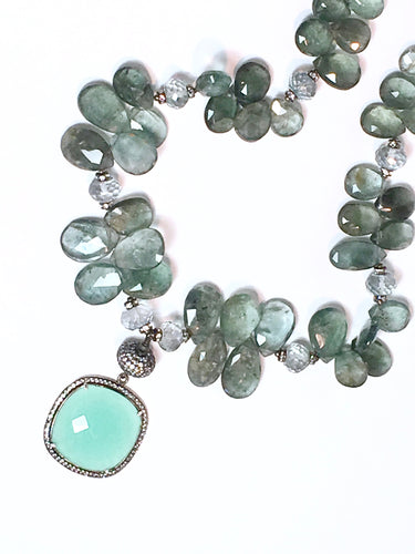 Unique Moss Aquamarine and Chalcedony Beauty!
