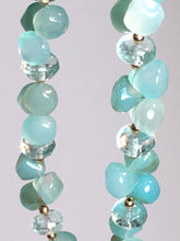 Blue & Green Chalcedony 'Kiss' Necklace
