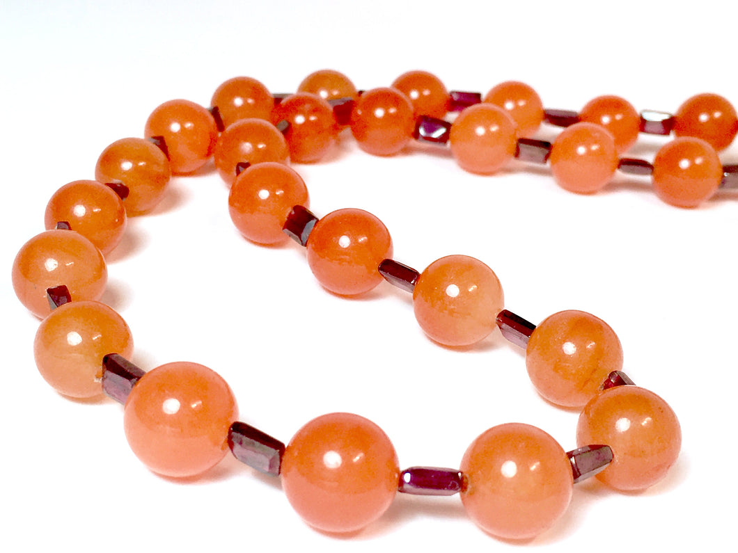 Special Cut Garnet & Carnelian Necklace