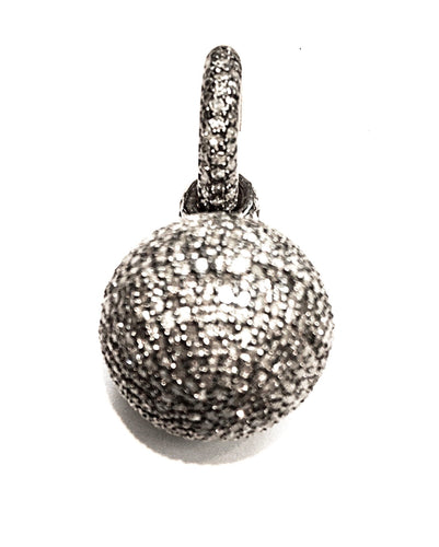 Incredibly Versatile, Well-Priced, Pave Diamond Earrings with Ball Drops