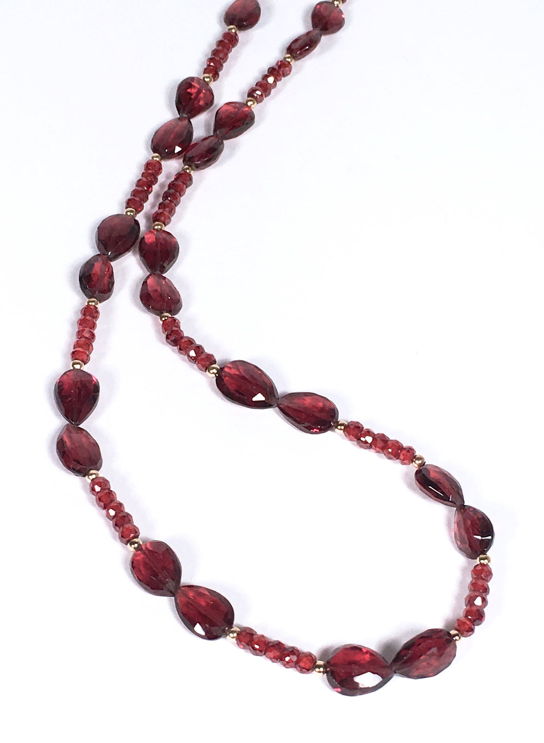 Faceted Garnet Necklace - This Season's Most Popular Color!