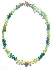 Peridot and Green Tourmaline Necklace for the Holidays!