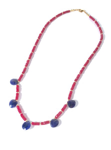Easy to Wear Sapphire and Ruby Necklace