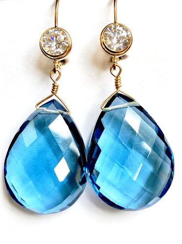 Fabulous London Blue Topaz Drop Earrings