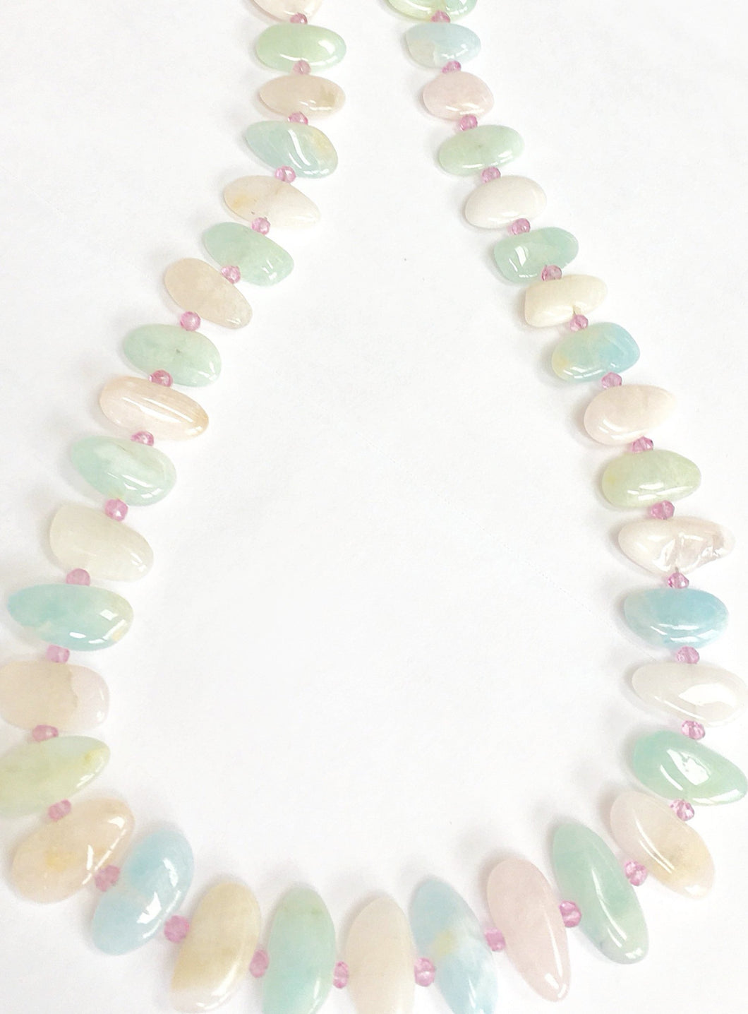 Unusual Multicolor Aquamarine Necklace