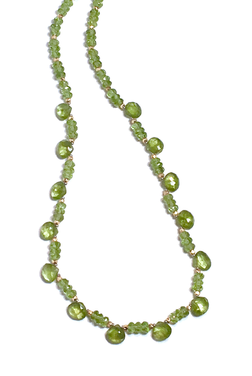 Peridot Delight Faceted Necklace