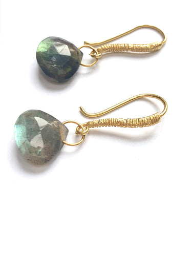 Gorgeous Green Labradorite Earrings