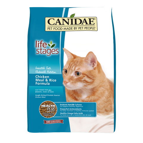 Canidae Life Stages Chicken Meal and Rice Formula Dry Cat Food