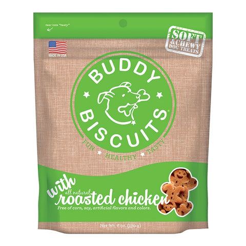 Cloud Star Buddy Biscuits Soft and Chewy Roasted Chicken Dog Treats