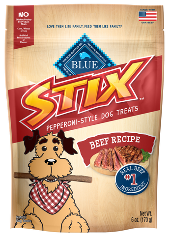 Blue Buffalo Stix Beef and Potato Natural Soft Moist Dog Treats