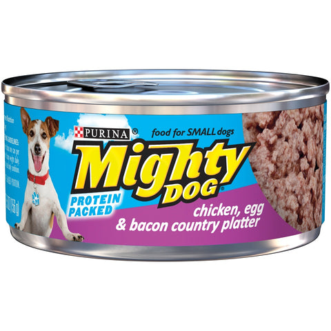 Purina Mighty Dog Chicken Egg and Bacon Canned Dog Food