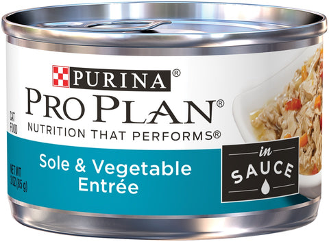 Purina Pro Plan Savor Adult Sole and Vegetables in Sauce Entree Canned Cat Food