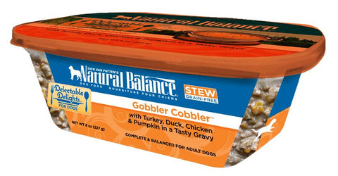 Natural Balance Delectable Delights Grain Free Gobbler Cobbler Stew Flavor Wet Dog Food