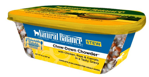 Natural Balance Delectable Delights Chow Down Chowder Flavor Wet Dog Food
