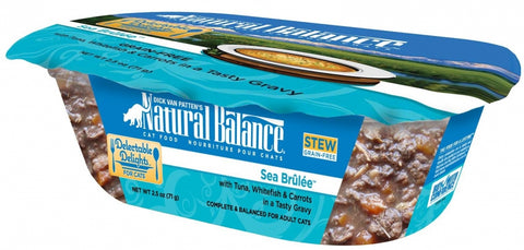 Natural Balance Delectable Delights Grain Free Sea Brulee Flavor Wet Cat Food