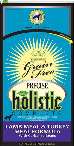 Precise Holistic Complete Grain Free Lamb Meal and Turkey Meal Formula Dry Dog Food