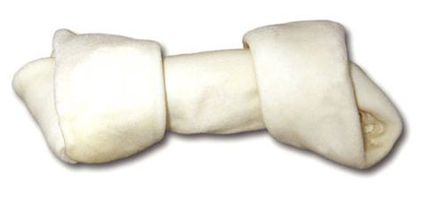 Cadet White Rawhide Knotted Dog Bone