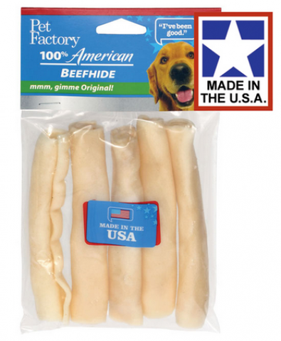 Pet Factory USA Chicken Flavored Chip Rolls Dog Treats