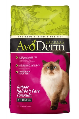 Avoderm Natural Corn Free Indoor Hairball Formula Dry Cat Food