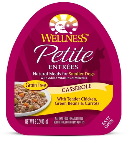 Wellness Petite Entrees Casserole Grain Free Natural Tender Chicken Recipe Wet Dog Food