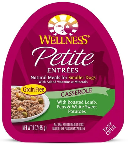 Wellness Petite Entrees Casserole Grain Free Natural Roasted Lamb Recipe Wet Dog Food