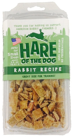 Hare of the Dog 100% Rabbit Training Jerky Treats for Dogs