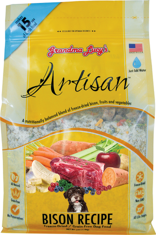 Grandma Lucy's Artisan Grain Free Bison Freeze Dried Dog Food