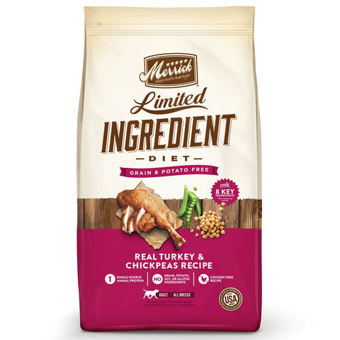 Merrick Limited Ingredient Diet Grain Free Real Turkey & Chickpeas Recipe Dry Dog Food