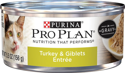 Purina Pro Plan Savor Adult Turkey and Giblets In Gravy Entree Canned Cat Food