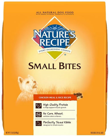 Nature's Recipe Small Bites Chicken Meal and Rice Dry Dog Food
