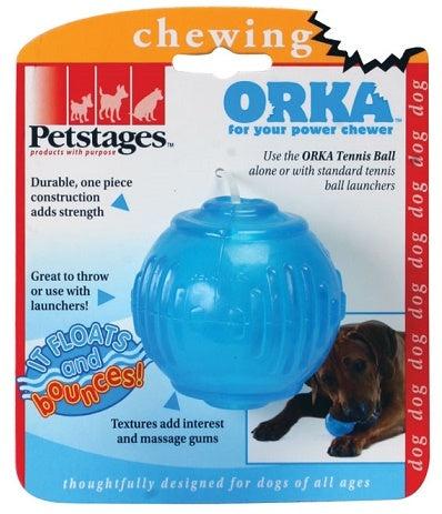 Petstages ORKA Tennis Ball Dog Chew Toy