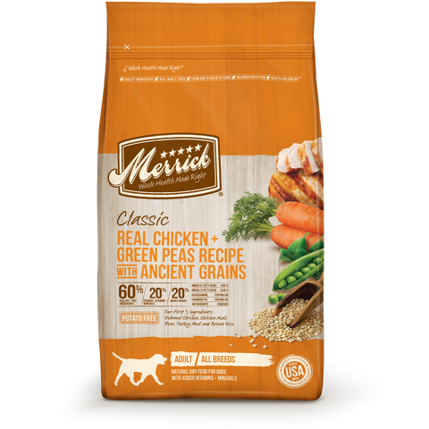 Merrick Classic Real Chicken and Green Peas Recipe with Ancient Grains Dry Dog Food