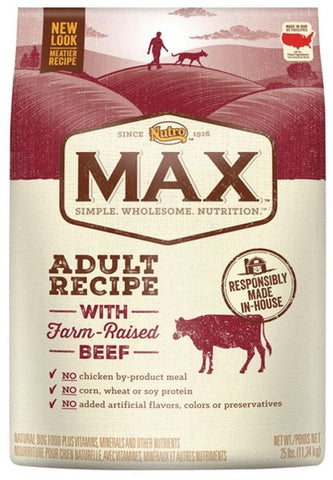 Nutro Max Adult Recipe With Farm Raised Beef and Brown Rice Dry Dog Food