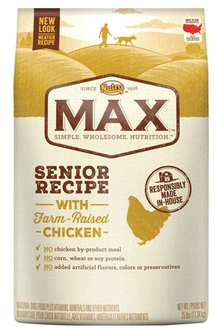 Nutro Max Senior Recipe With Farm Raised Chicken Dry Dog Food
