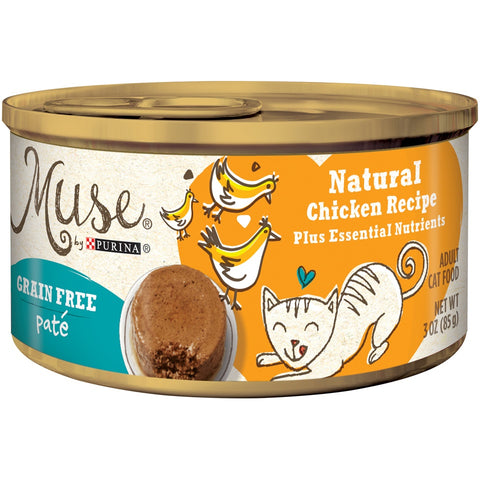 Purina Muse Grain Free Natural Chicken Pate Recipe Canned Cat Food